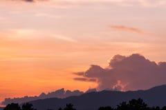 Zmierzchu nieba tło Zdjęcie Royalty Free