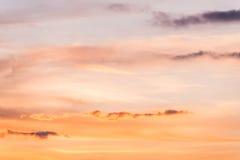 Zmierzchu nieba tło Zdjęcia Royalty Free