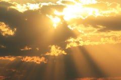 Zmierzchu niebo cud - natury tło Obraz Stock