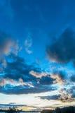 Zmierzchu niebo na stawie Zdjęcie Stock