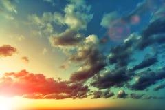 Zmierzchu niebo po deszczu Zdjęcie Stock