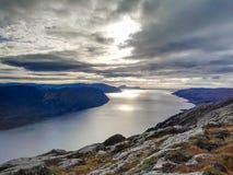 Zmierzchu norwegu fjord Zdjęcie Stock