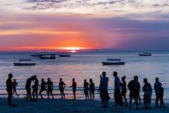 Zmierzchu Nungwi Unguja Zanzibar wyspa Tanzania Afryka Wschodnia zdjęcia royalty free