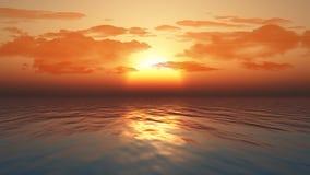 Zmierzchu ocean Zdjęcia Stock
