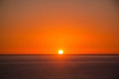 Zmierzchu ot wschód słońca nad morzem w Costa Brava tossa de mar Zdjęcie Royalty Free