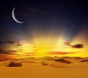 zmierzchu pustynny piaskowaty czas Zdjęcia Royalty Free