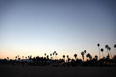 Zmierzchu Santa Barbara plaża Zdjęcia Royalty Free