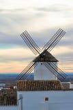 zmierzchu stary hiszpański wiatraczek Zdjęcie Royalty Free