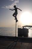 zmierzchu unicycle Fotografia Stock
