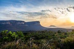 Zmierzchu widok Chapada Diamantina park narodowy - Bahia, Brazylia zdjęcie royalty free
