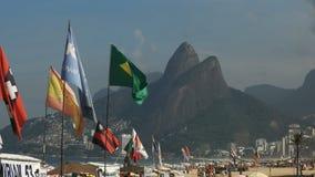 Zmierzchu widok ipanema pla?a w Rio