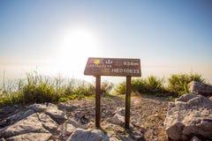 Zmierzchu widok Lantau szczyt Obrazy Stock