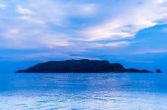 Zmierzchu widok na Sveti Nikola wyspie Fotografia Royalty Free