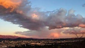 Zmierzchu widok od Griffith parka zdjęcia royalty free