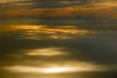 Zmierzchu widok od samolotu Obrazy Stock