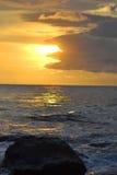 Zmierzchu widok przy Soka plażą Zdjęcia Royalty Free