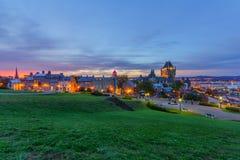 Zmierzchu widok Quebec miasto zdjęcie royalty free