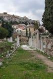 Zmierzchu widok Romańska agora w Ateny, Grecja Zdjęcie Royalty Free