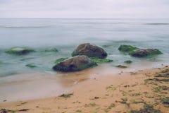 Zmierzchu wieczór na morzu bałtyckim Zdjęcie Royalty Free