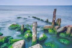 Zmierzchu wieczór na morzu bałtyckim Zdjęcie Stock