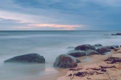 Zmierzchu wieczór na morzu bałtyckim Fotografia Royalty Free