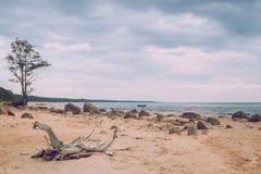 Zmierzchu wieczór na morzu bałtyckim Zdjęcia Stock