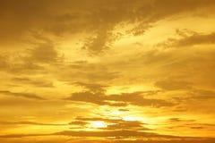 Zmierzchu wschód słońca Cloudscapes Zdjęcia Stock