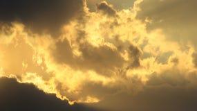 Zmierzchu złoto natury tło i Kolorowy piękno - Obraz Royalty Free