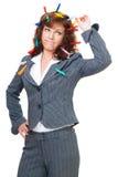 zmieszana biurowa kobieta Obraz Royalty Free