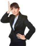 Zmieszana biznesowa kobieta Zdjęcie Stock
