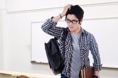 Zmieszana męska uczeń pozycja w klasie Obraz Stock