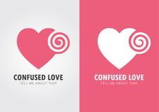 Zmieszana miłość Serce i twirl Obraz Stock