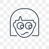 Zmieszana wektorowa ikona odizolowywająca na przejrzystym tle, liniowym royalty ilustracja