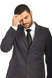 Zmieszany biznesowy mężczyzna Zdjęcia Stock