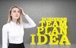 Zmieszany blondynka bizneswoman, biznes i Obrazy Stock