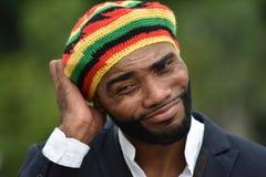 Zmieszany Dorosły Czarny Jamajski mężczyzna zdjęcia stock