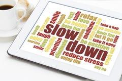 Zmniejszać stres porady Fotografia Royalty Free
