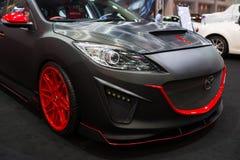Zmodyfikowany Mazda 2 na pokazie Zdjęcie Royalty Free