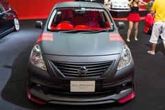 Zmodyfikowany Nissan Almera na pokazie Fotografia Royalty Free