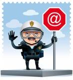 Zmotoryzowany policjant ilustracji