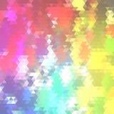 Zmrok - błękit, Czerwony wektorowy abstrakcjonistyczny poligonalny wzór Olśniewająca kolorowa ilustracja z trójbokami Wzór dla ga ilustracji