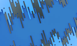 Zmrok - błękit krople - 3d ilustracja Fotografia Royalty Free