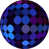Zmrok - błękitna balowa migocząca 3d abstrakta grafika Bia?y t?o odizolowywaj?cy royalty ilustracja