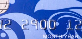 Zmrok - błękitna bank karta Fotografia Royalty Free