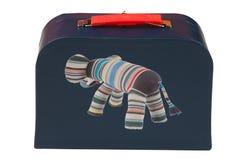 Zmrok - błękitna walizka Obraz Stock