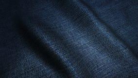 Zmrok - błękitna wysokiej jakości cajg tekstura, rusza się fala, Bezszwowa pętla zbiory wideo