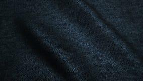 Zmrok - błękitna wysokiej jakości cajg tekstura, rusza się fala, Bezszwowa pętla zbiory