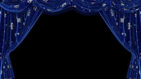 Zmrok - błękitne zasłony z płatek śniegu Z alfa kanałem ilustracji