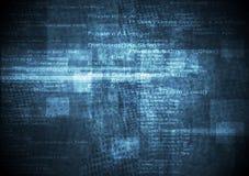 Zmrok - błękitnego grunge techniczny tło Obrazy Stock
