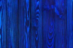 Zmrok - błękitnego koloru drewniana tekstura Obraz Royalty Free